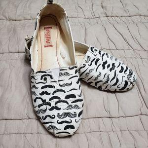 🛍 Mustache Slip On Shoes